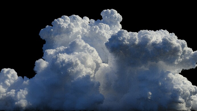 Cloud cumulus 1 3Delight render