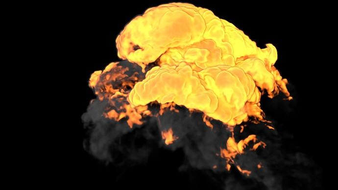 Explosion B_Voxel Size 2_Vorticity 16