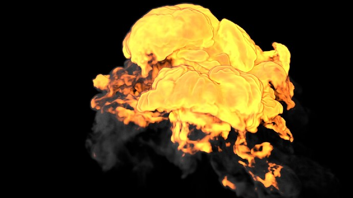 Explosion A_Voxel Size 2_Vorticity 10